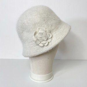 Vintage Fuzzy Angora Blend Bucket Hat
